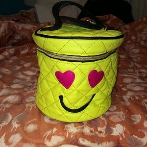 betsey johnson emoji makeup bag